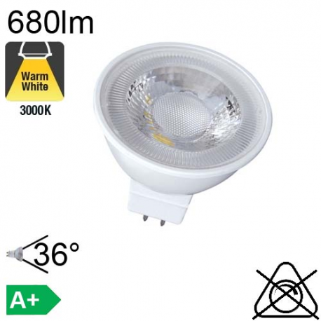 MR16 LED GU5.3 680lm 3000K 36°