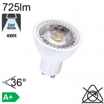 Spot LED GU10 650lm 4000K 36°