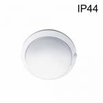 Hublot Blanc IP54 E27 Sans lampe Avec Détecteur HF