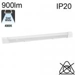 Réglette Aluminium AVEC Inter et SANS Prise LED IP20 10W 900lm 4000K