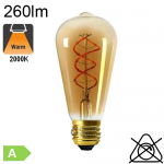 Edison ST64 Twisted LED Ambrée E27 260lm 2000K