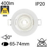 Encastré Led IP20 6W 400lm 3000K