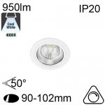 Encastré Led RIVA IP20 10W 950lm 4000K Dimmable
