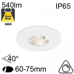Encastré Blanc IP65 6W 540lm 3000K Dimmable