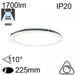Encastré Flat Led IP20 20W 1700lm 4000K Dimmable
