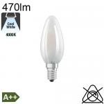 Flamme Dépolie LED E14 470lm 2700K
