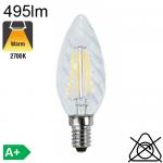 Flamme torsadée LED E14 495lm 2700K
