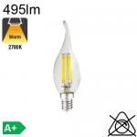 Flamme Coup de Vent LED E14 495lm 2700K