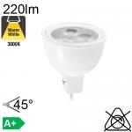 MR11 LED GU4 220lm 3000K 45°