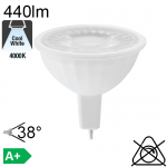 MR16 LED GU5.3 440lm 4000K 38°