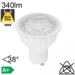 Spot LED GU10 340lm 3000K 38°