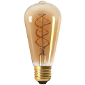 Vintage Edison ST64 Amber dimmable