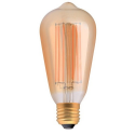 Amber Deco Lamps with Carbon Filament